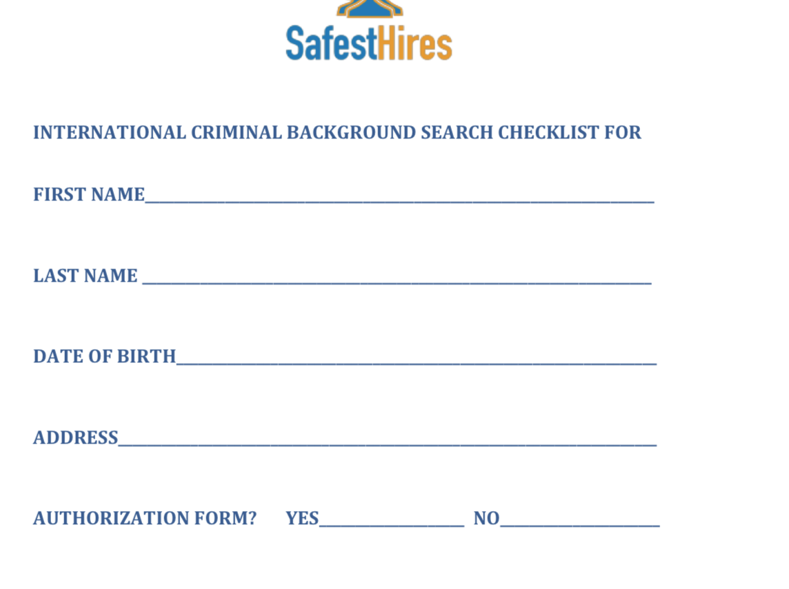 Background check forms – Crossover Support